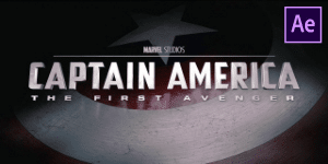 Captain America Intro Free Template
