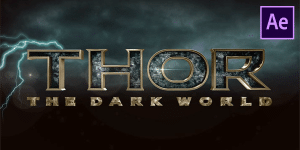 Thor The Dark World Intro Free Template